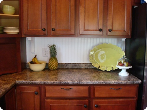 Kitchen backsplash ideas using wallpaper. 1000 images about ...